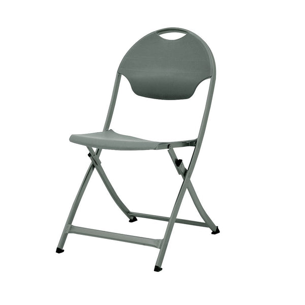 MityLite SwiftSet Folding Chair, Gray Sand Frame & Gray Seat, Back