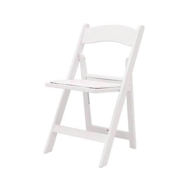 Atlas Folding Resin Chair - White