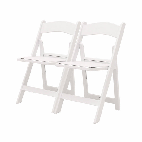 Atlas Folding Resin Chair Ganged- White