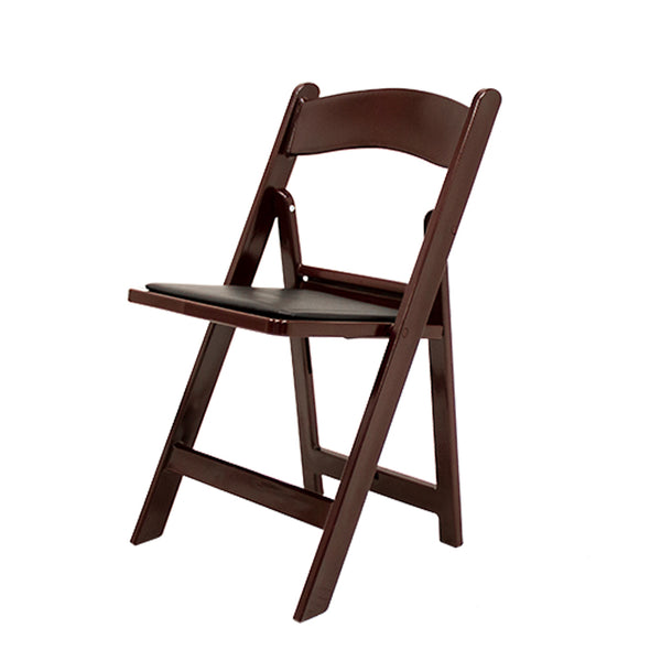 Atlas Folding Resin Chair - Burgundy