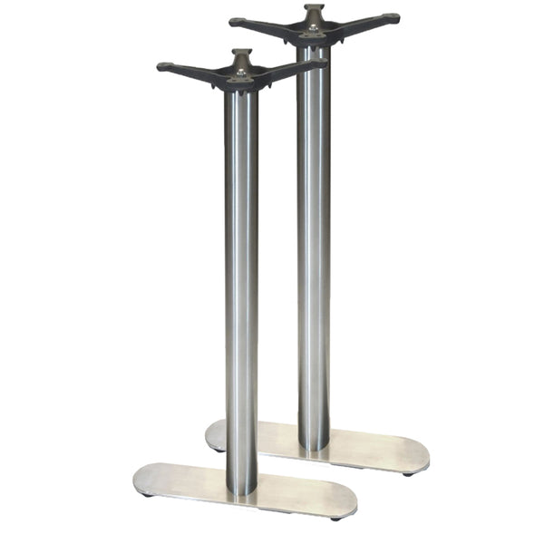 "22"" 4-Prong Table Base - 42"" Height - Stainless Steel"