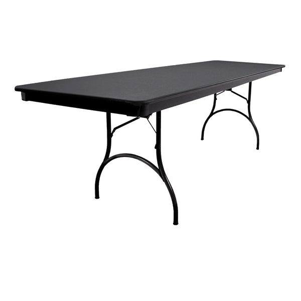 "MityLite ABS Plastic 30""x96"" Folding Table - Black"