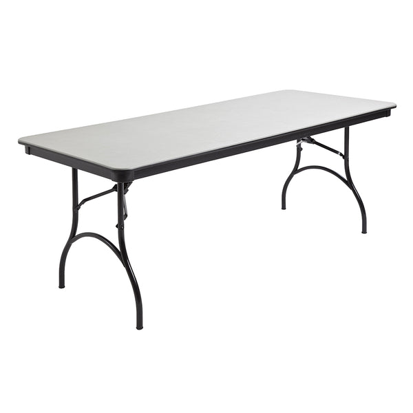 "MityLite ABS Plastic 30""x72"" Folding Table - Gray"