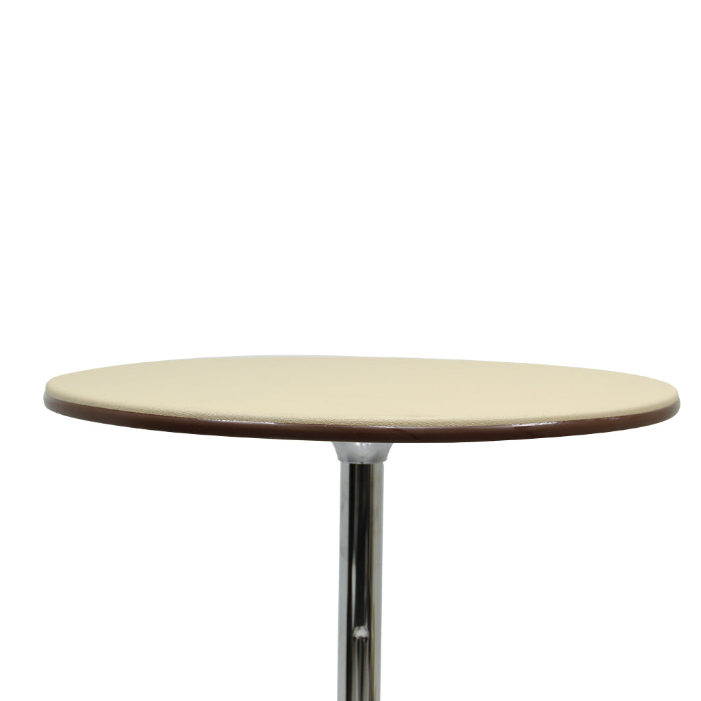 CT24 ABS Cocktail Table, Beige Top & Brown Trim, Adjustable Knockdown