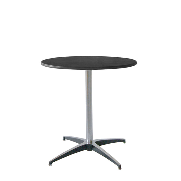 "CT24 ABS Cocktail Table, Black Top & Black Trim, 30"" Detachable Knockdown"