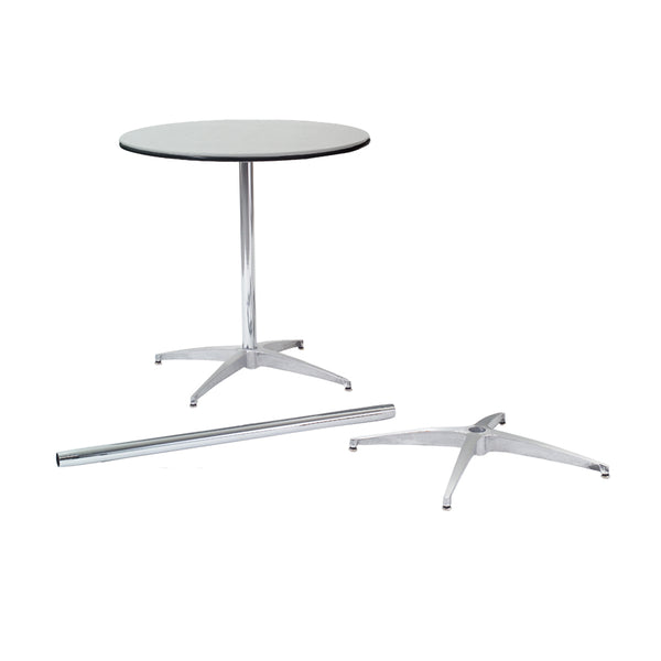 "MityLite ABS Plastic 30"" Cocktail Table w/ Detachable Leg Set"