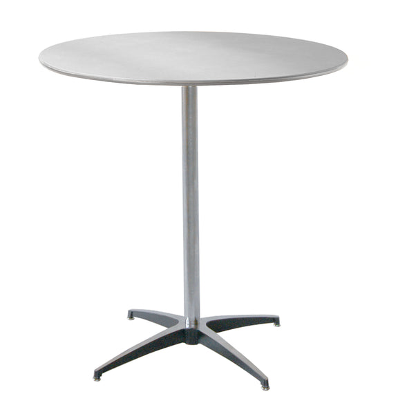 "MityLite ABS Plastic 36"" Cocktail Table w/ 42"" Tall Detachable Leg"