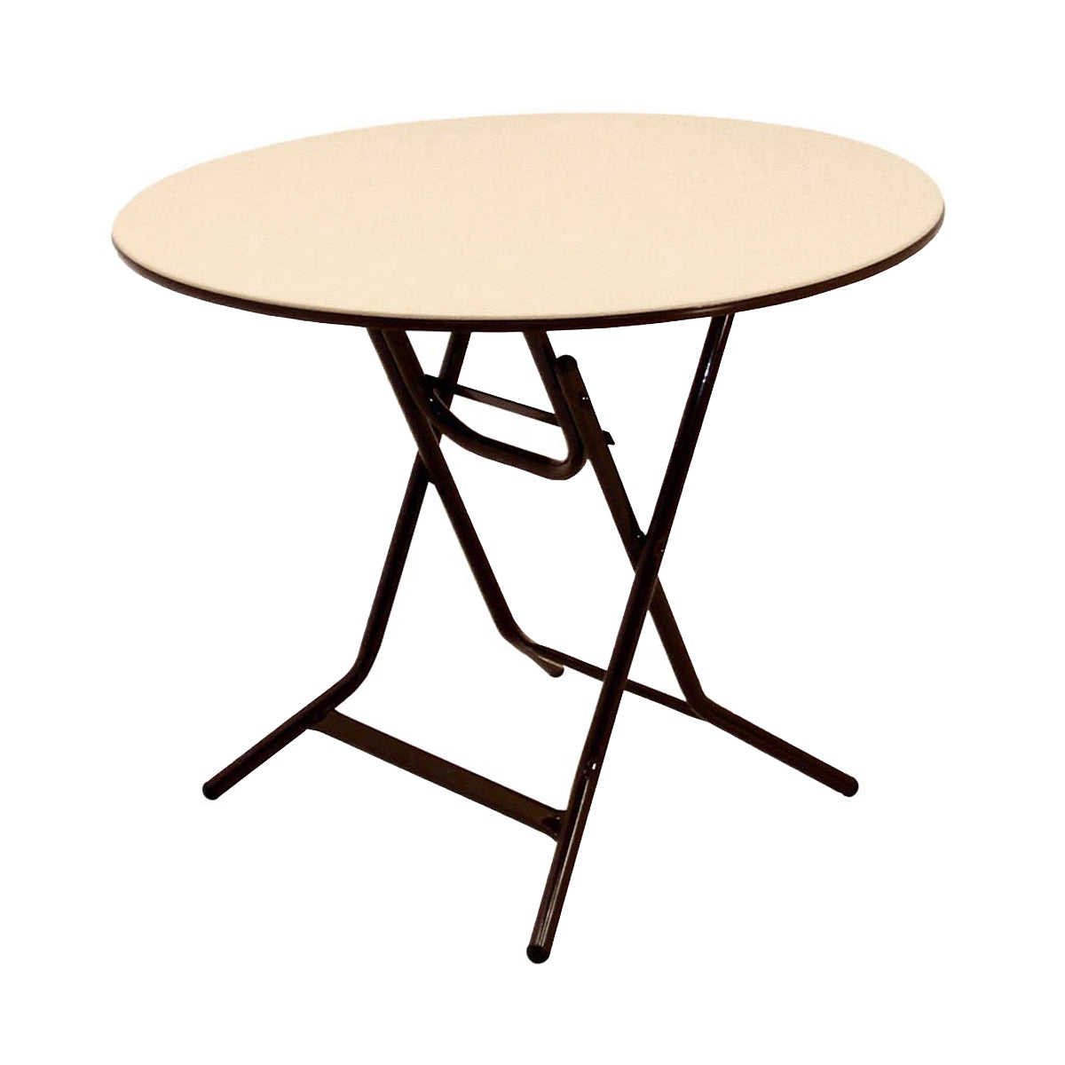 "MityLite ABS Plastic 36"" Round Xpediter Folding Table - Beige"