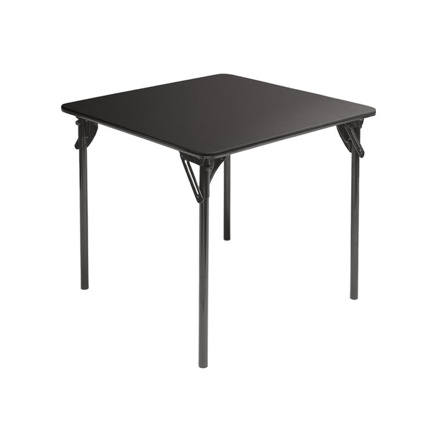 "MityLite ABS Plastic 30""x30"" Card Table - Black w/ Black Bottom"