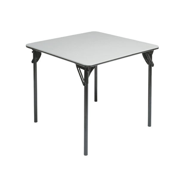 "MityLite ABS Plastic 30""x30"" Card Table - Gray w/ Black Bottom"