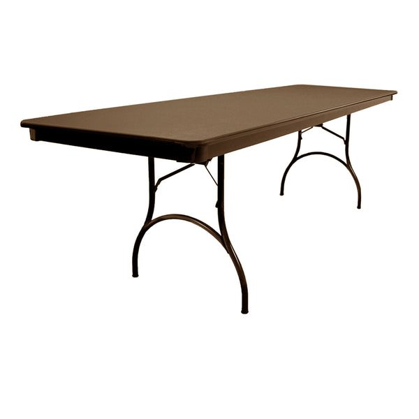 "MityLite ABS Plastic 30""x96"" Folding Table - Brown"