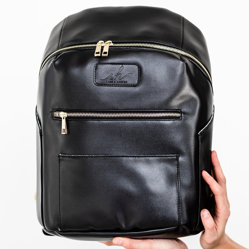 Raven Black Vegan Backpack