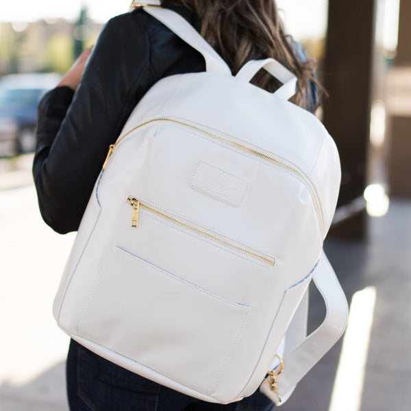 Pearl White Vegan Backpack