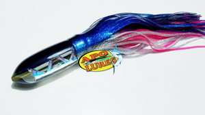 "9"" Apo Lures Deep Blue All Cracked Glass Bullet"