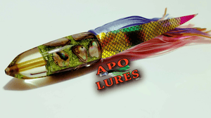 "7"" Apo Lures IWI Lime Green Glitter Bullet"