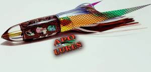 "7"" Apo Lures IWI Rootbeer Glitter Bullet"