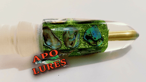 "7"" Apo Lures IWI Lime Green Bullet (Naked)"
