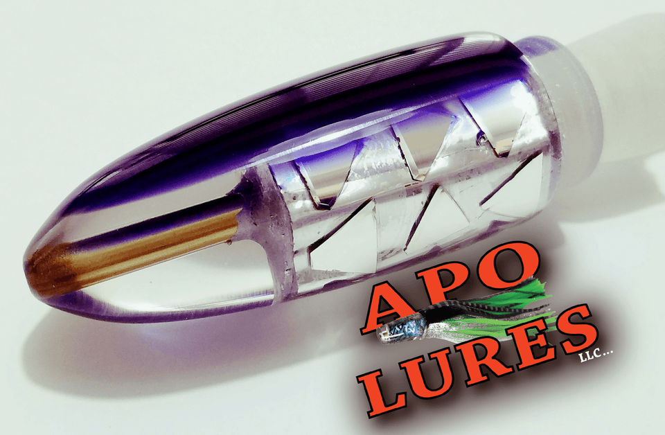 "9"" Apo Lures Purple Haze Cracked Glass Bullet (Naked)"