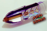 "7"" Apo Lures Purple Cracked Glass Bullet (Naked)"