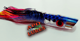 "9"" Apo Lures Light Blue Polka Dot Jetted Deep Slant"