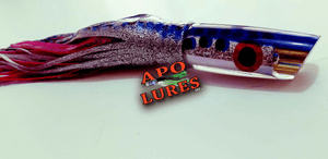 "9"" Apo Lures Silver/Blue Polka Dot Jetted Deep Slant"