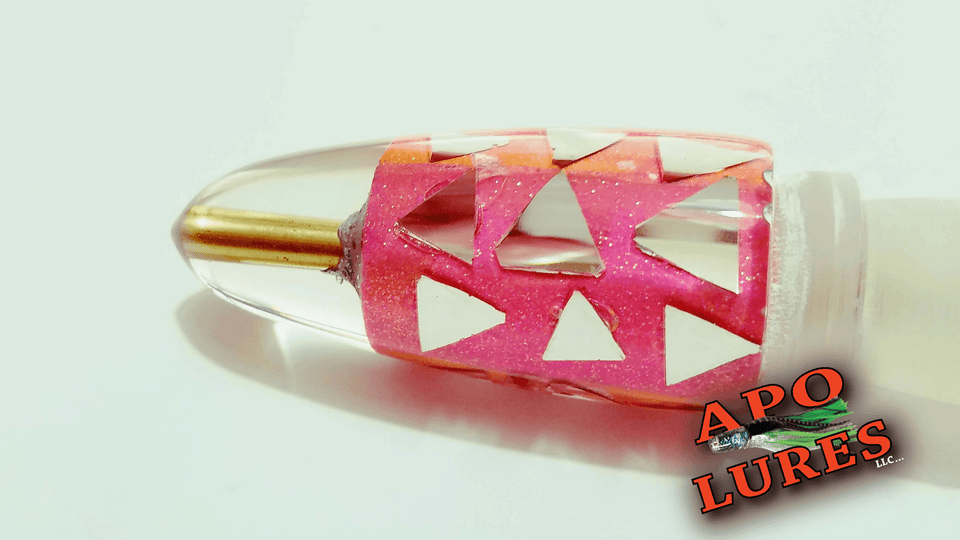 "9"" Apo Lures Pink Cracked Glass Bullet (Naked)"