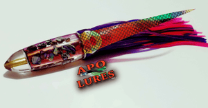 "7"" Apo Lures IWI Prism Pink Bullet"