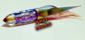 "7"" Apo Lures Rainbow Cracked Glass Bullet"