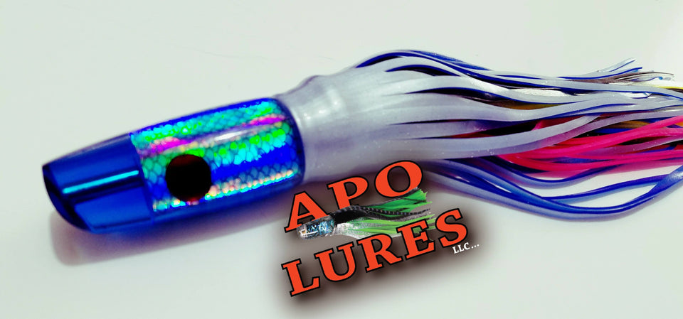 "9"" Apo Lures True Blue Olelo Plunger"