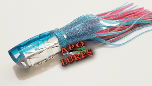 "9"" Apo Lures Light Blue Cracked Glass Scoop"