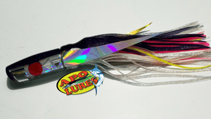 "9"" Apo Lures Purple Cracked Glass Scoop"