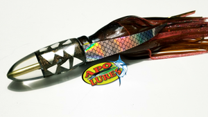 "9"" Apo Lures Root Beer Cracked Glass Bullet"