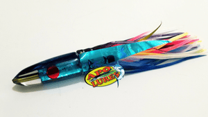 "7"" Apo Lures Purple Pearl Blue Bullet"