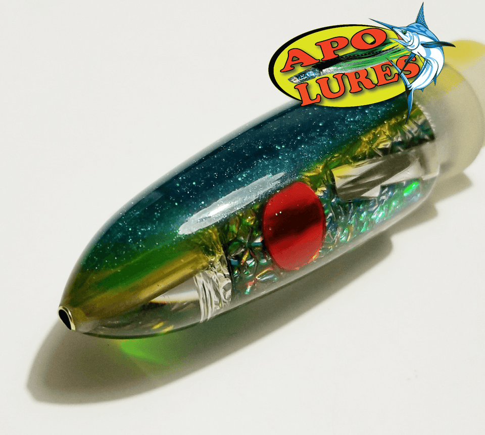 "9"" Apo Lures Teal Pearl Fish Skin Bullet (Naked)"