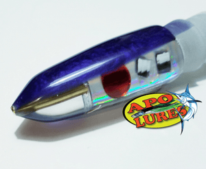 "9"" Apo Lures Purple Pearl Prism Cracked Glass Bullet (Naked)"