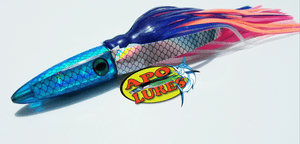 "9"" Apo Lures Trans Blue Fish Scale Whooo Killah Bullet Dart"