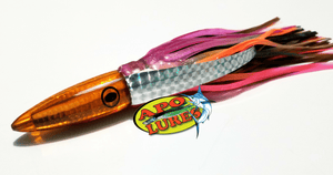 "9"" Apo Lures Trans Orange Whooo Killah Bullet Dart"