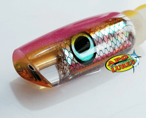 "9"" Apo Lures Pink Pearl/Yellow Prism Scoop (Naked)"