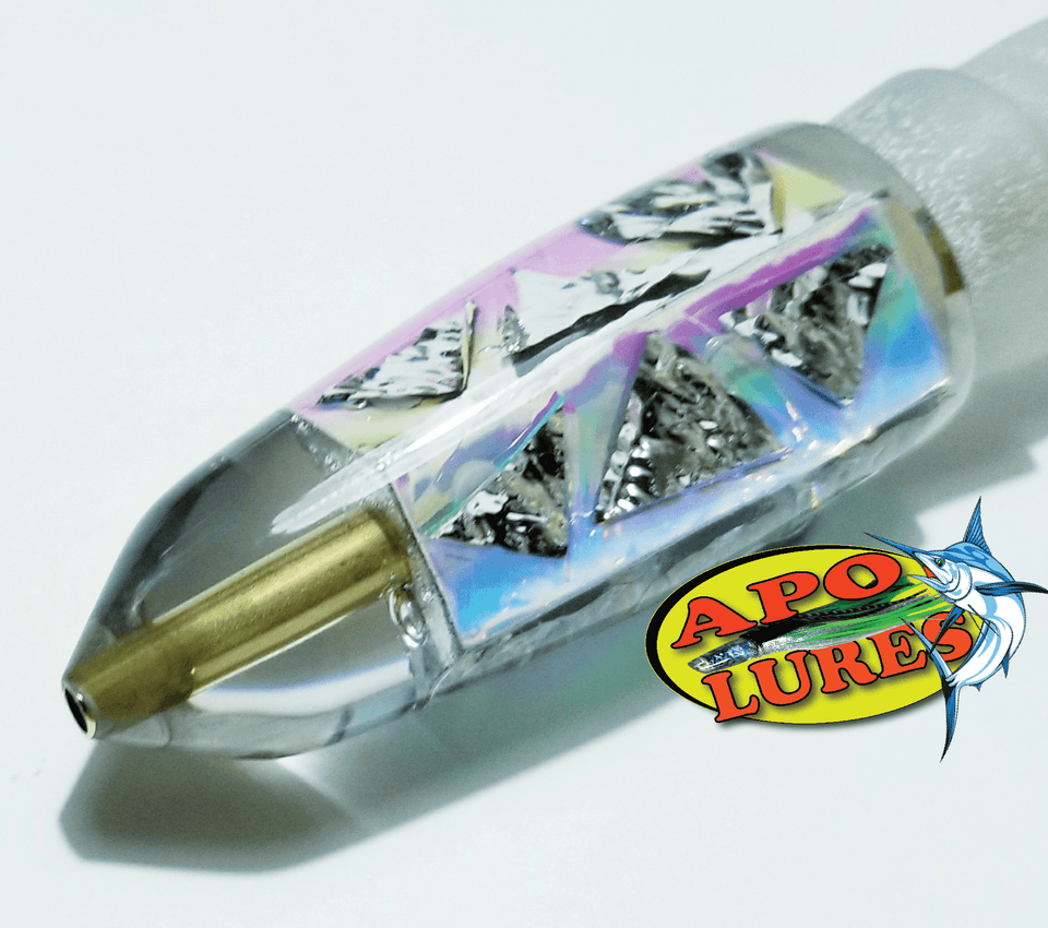 "9"" Apo Lures Prism Dichroic Cracked Glass Bullet (Naked)"