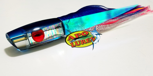 "9"" Apo Lures Trans Blue Grease Scoop"