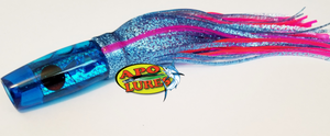 "9"" Apo Lures Tru Blu Prism Cracked Glass Hapa (Invert)"