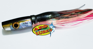 "9"" Apo Lures Black/Yellow Shell Killah Jetted Scoop"