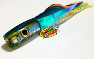 "9"" Apo Lures Teal/Yellow Shell Hapa Invert"