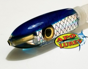 "6"" Apo Lures Keiki Blue Pearl Fish Scale Long Bullet (Naked)"