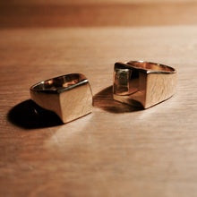 Medium and Large square signet ring mens and womens