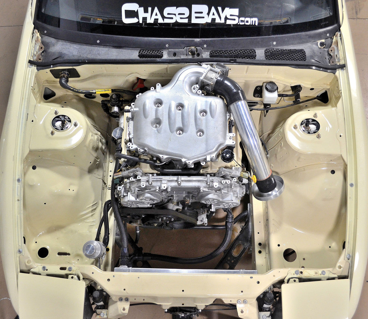 Chase Bays AN Fuel Line Kit Nissan 240sx w/ VQ35 1989-2002