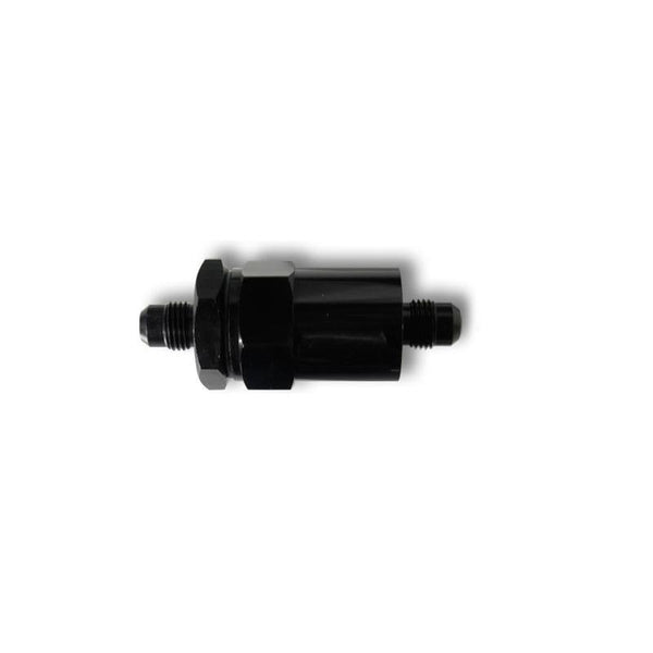 Chase Bays -6AN Inline Fuel Filter, 20 Micron, Black