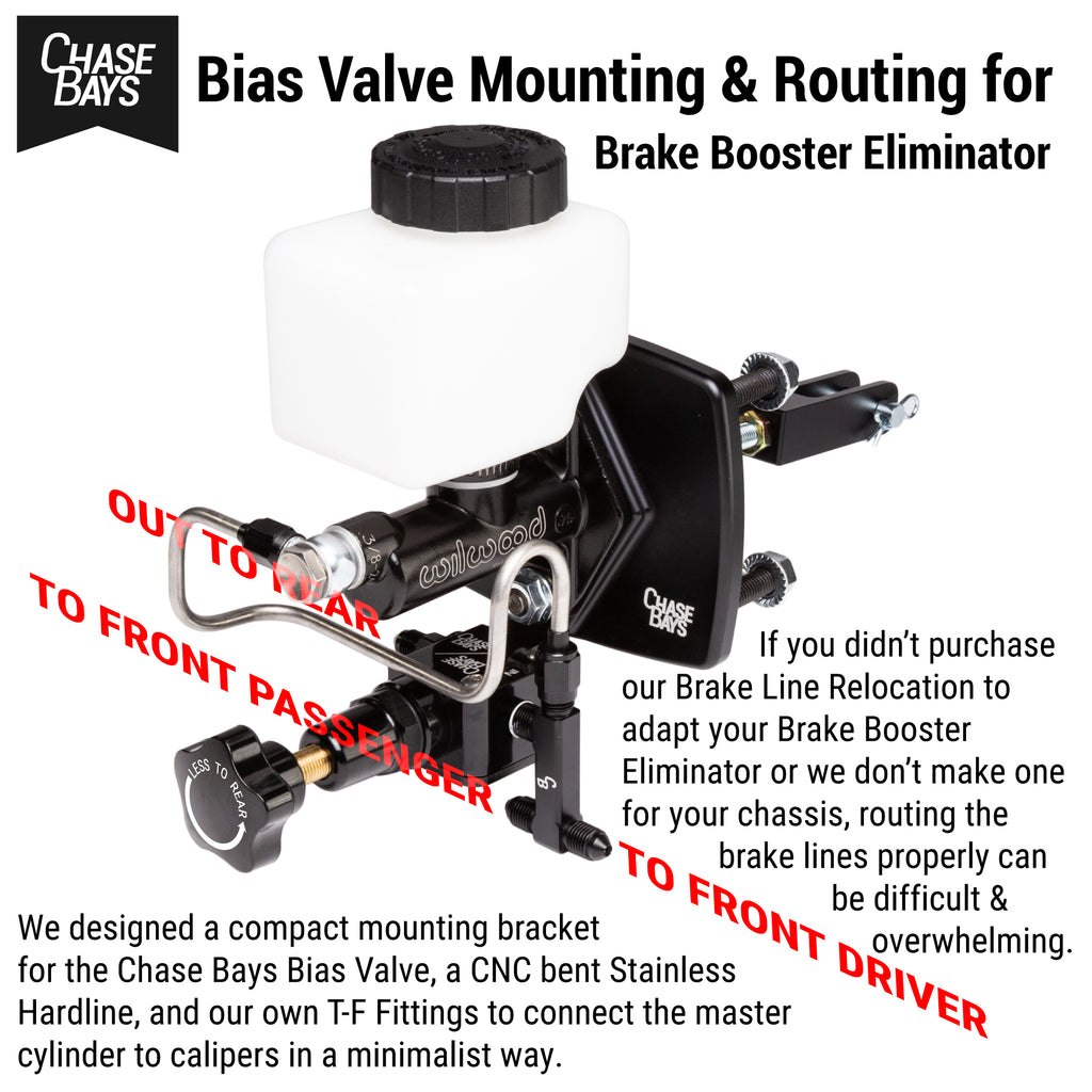 Chase Bays Bias Valve Mounting & Routing for Brake Booster Eliminator