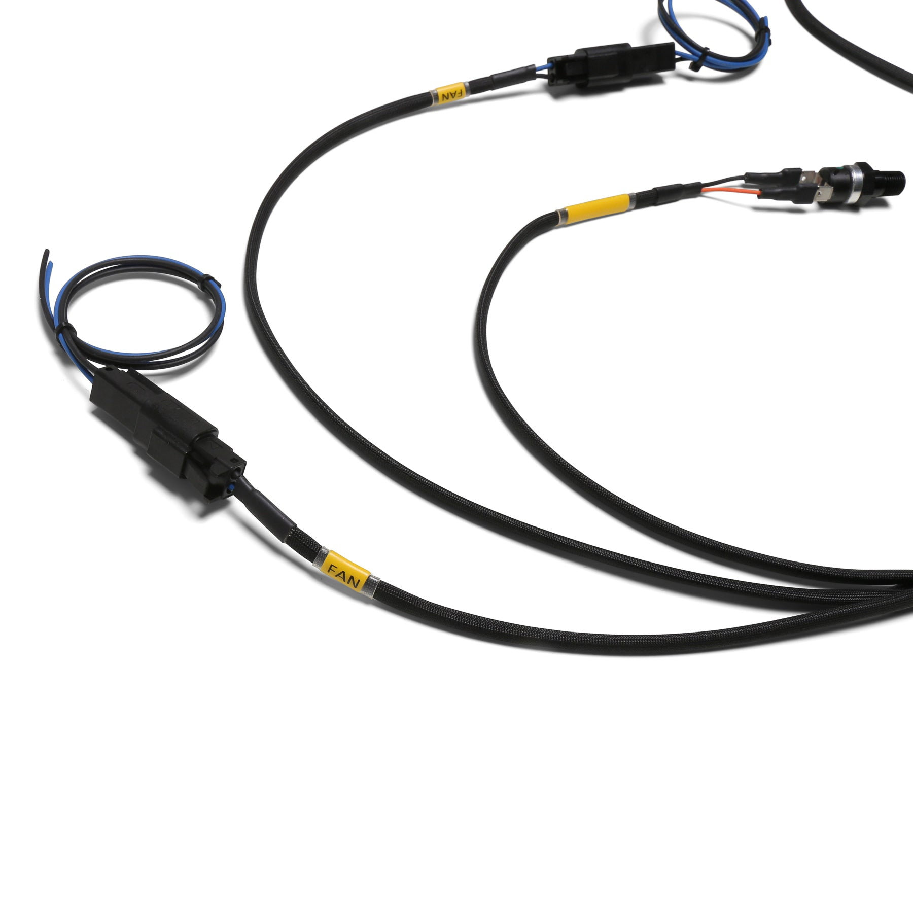 Chase Bays Dual Fan Relay Wiring Harness With 180 F Thermoswitch Electric