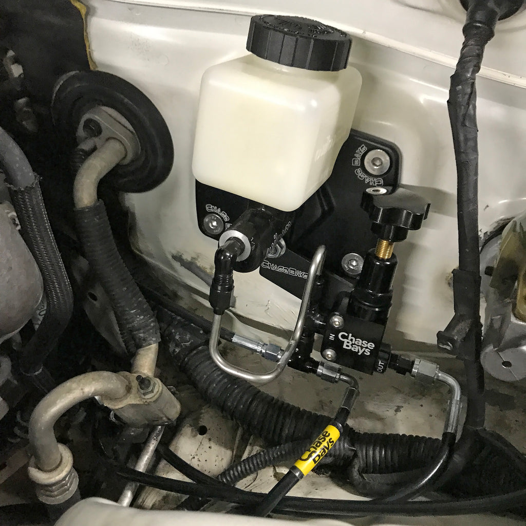 Chase Bays Brake Line Relocation - Lexus IS300 with BBE